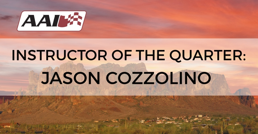 Instructor of the 2nd Quarter – Jason Cozzolino